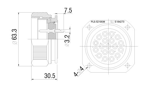 PLS-5219SM-drawing